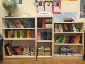 Lägruppsbibliotek lättillgängligt i klassrummet