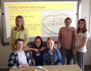 Från vänster: Caroline Ellingsen, Oscar Myllenberg, Emilia Nilsson, Theo Glanzelius, Jenny Andersson och My Källström