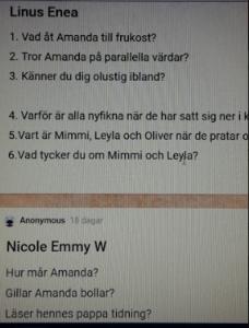 Elevernas frågor på padlet.com