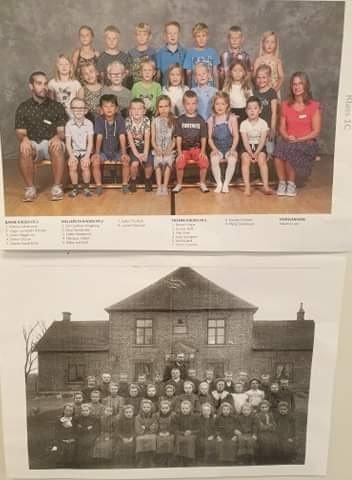 klassfoton från 1919 och 2019